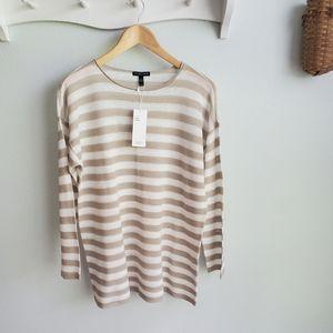 Eileen Fisher sheer organic linen blend sweater PL